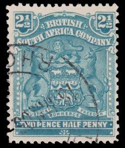 BRITISH RHODESIA & NYASALAND STAMP. YEAR 1898. SCOTT # 62. USED