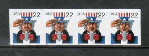 USA #3263a Extra Fine Never Hinged Imperf Strip Of Four