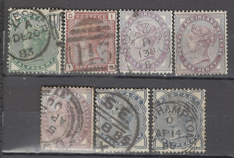 COLLECTION LOT OF #1044 GREAT BRITAIN 7 STAMPS 1880+ CV=$50