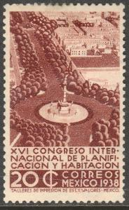 MEXICO 744, 20¢ Planification Congress, Unused H OG. VF.