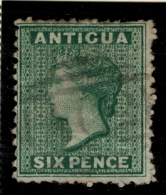 Antigua Stamp Scott #7, Used, Paper/Hinge Remnants - Free U.S. Shipping, Free...