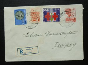 Yugoslavia 1969 Uprated Registered Postal Stationery Pristina to Beograd A10