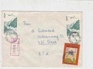 Poland 1979 Registered Bytom Cancels Multi Some Plane Stamps Cover Ref 25612