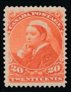 Canada 46 Mint LH F-VF 20c Vermillion