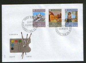SWITZERLAND-FDC-EUROPA CEPT-1975.