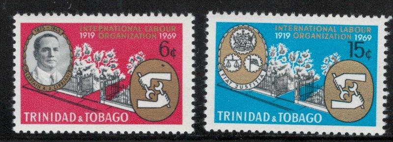 Trinidad & Tobago MNH 160-1 Captain Cipriani ILO 1969