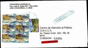AARG-369 ARGENTINA 2009 REGISTERED INFLATION COVER  2psX 7 ALONE,