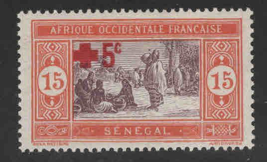 Senegal Scott B2 MH* Red Cross stamp 1915
