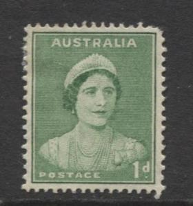 Australia - Scott 167 (l) -Queen Elizabeth -1937- MLH - Single 1d stamp