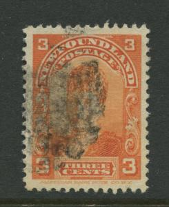 Newfoundland - Scott 83 - QV Definitive - 1898 - FU - Single 3c Stamp