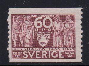 Sweden Sc 247 1935 60 ore 4 Estates stamp mint