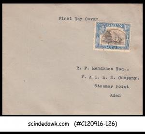 ADEN - 1945 CAPTURE OF ADEN 1839 CAPTAIN RUNDLE SCOTT#23a - FDC