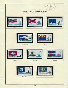 4273-4292 42cent STATE FLAGS MINT COILS ON ALBUM PAGES BCV $30.00 - W20