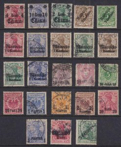 GERMANY OFFICES ABROAD - INTERESTING USED & MINT GROUP REMOVED FROM PAGE - V269