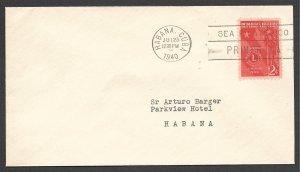 Doyle's_Stamps: 1940 Lions International FDC Habana Postal History