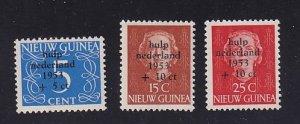 Netherlands New Guinea   #B1-B3   MNH   1953   flood relief