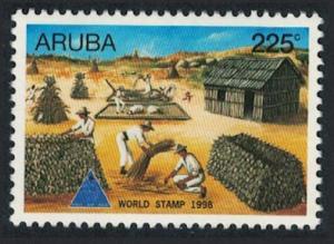 Aruba Villagers processing Corn World Stamp Day 1998 MNH SG#229