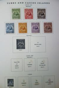 Turks & Caicos Mint Stamps 1900-1980's Collection in Album