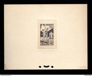 Monaco 322 Artist die color (N° 1713) proof. 1948 London Olympics Basket.