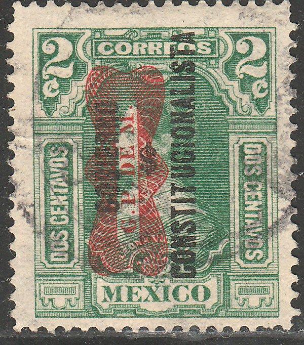 MEXICO 529, 2¢ Corbata & Gobierno $ overprints, USED. VF. (1270)