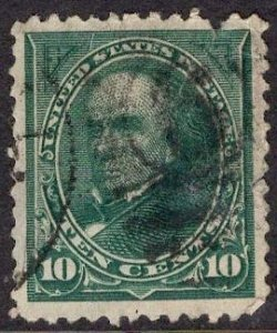 US Stamp #258 10c Webster USED SCV $20.00