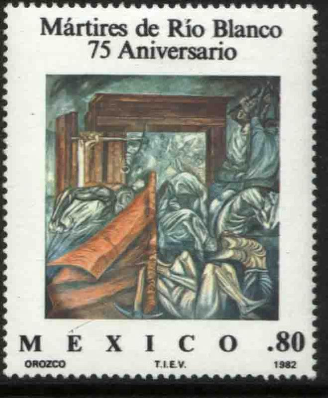 MEXICO 1264, Martyrs of Rio Blanco painting by Orozco. MINT, NH. VF.