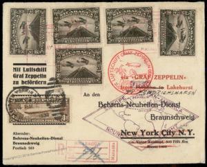 Nicaragua 1930 USA C14 2x-Franked Graf Zeppelin Sieger 64 IX Havana Cover 84158