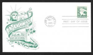 UNITED STATES FDC (22¢) 'D' Rate 1985 Marg