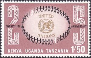 Kenya-Uganda-Tanzania # 223 mnh ~ 1.50sh UN Emblem