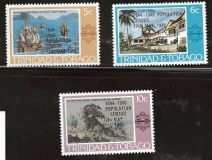 Trinidad Tobago Scott 325-327 MNH** 1980 overprint set
