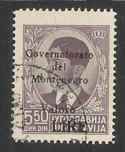 OCCUPAZIONE ITALIANA MONTENEGRO 1942 BLACK OVERPRINTED SOPRASTAMPA NERA LIRE ...