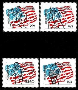 TONGA - 1984 - XXIII Olympics - Perf 4v Set - M N H - Self Adhesive