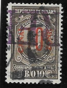 Canal Zone Scott #J9 Used 10c Postage Due Surcharged 2016 CV $5.00