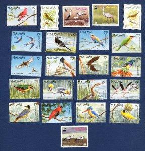 MALAWI -  - FVF MNH - BIRDS - 1987-1994