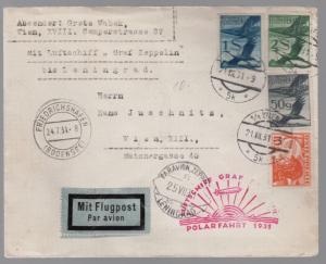 1931 Austria Graf Zeppelin Polar Flight LZ 127 Cover to Russia USSR