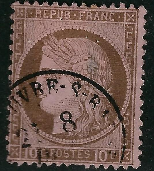 France #60 Used F-VF short perf...Chance to bid on a real Bargain!