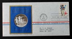 1975 Postmasters Of America Silver Proof Coin Limited Edition No13