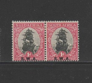 SOUTH WEST AFRICA #97  1927  1p  VAN RIEBEEKS SHIP    MINT VF LH O.G