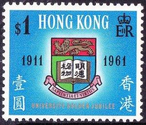 HONG KONG 1961 QEII $1 Multicoloured SG192 MH