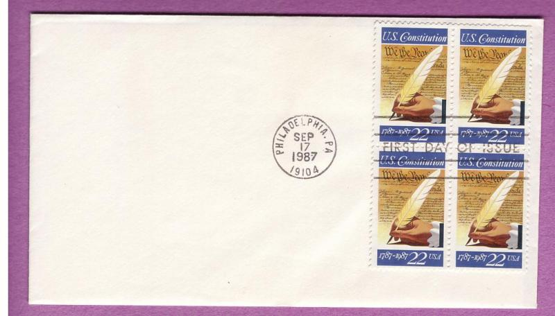 FDC - #2360 - Constitution Bicentennial block of 4