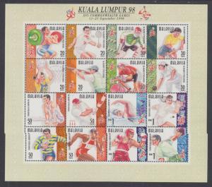 Malaysia Sc 675, 706, 787, 808 MNH. 1998-2000 Mini-Sheets, 4 different, VF