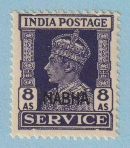 INDIA - NABHA STATE O48 OFFICIAL  MINT NEVER HINGED OG ** NO FAULTS EXTRA FINE !