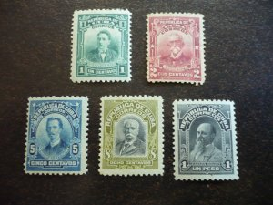 Stamps - Cuba - Scott# 247-252 - Mint Hinged Set of 5 Stamps