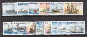 Barbados #872 - #885 VF/NH Set