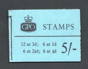 5/- GRAPHITE BOOKLET MARCH 1960 SG H43g Cat £170