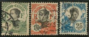 Indo-China 44-45 & 48 Used F-VF