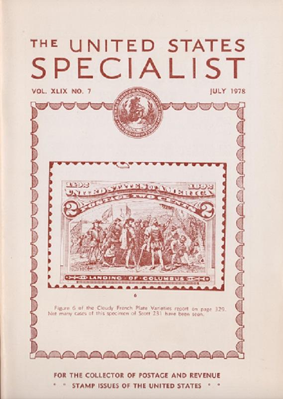 The United States Specialist:  Volume 49, No.7 - July 1978