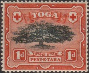 Tonga 1942 SG75 1d Ovava Tree Wmk mult script CA MLH