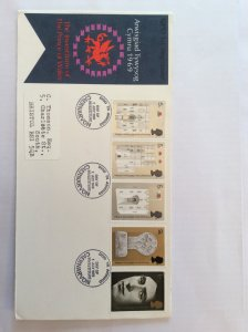 1969 Investiture FDC  Caernarvon Castle post mark to Bristol