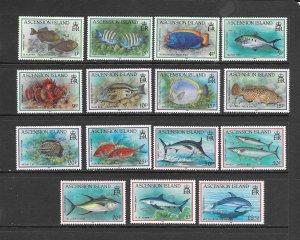 FISH - ASCENSION #516-30  MNH